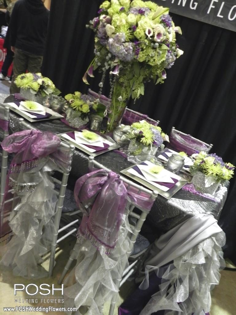 Tall Centerpieces Seattle Wedding Flowers By POSH