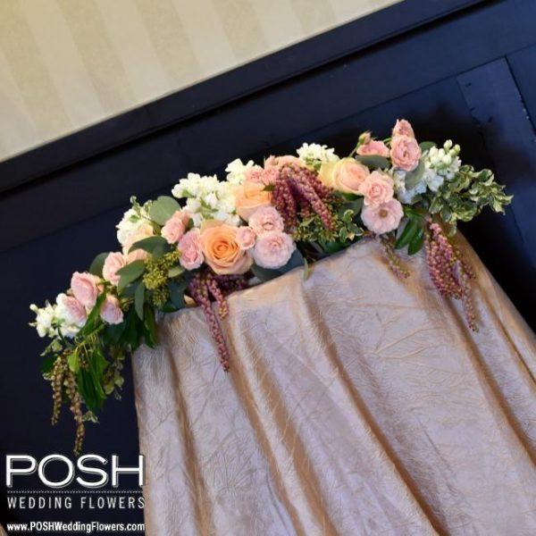 Altar Flowers Wedding Cost: Ceremony Flowers: Long & Low Altar Arrangement
