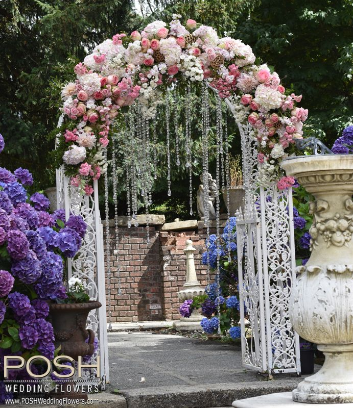 Floral Swag For Arch POSH Seattle Wedding Flowers By POSH