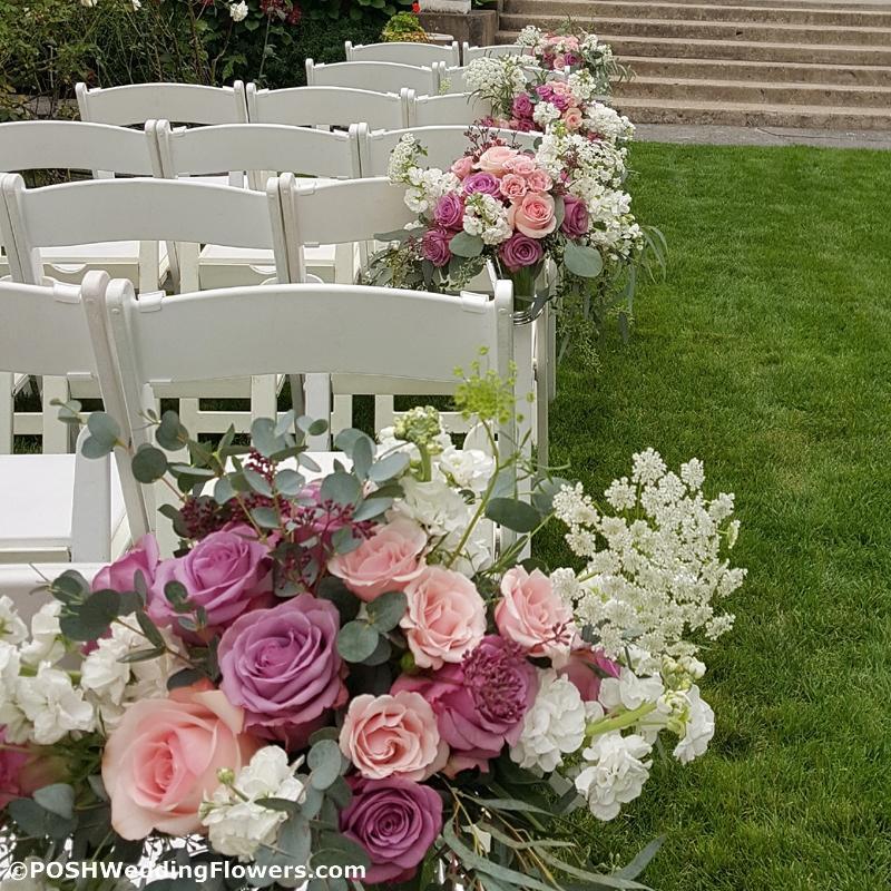 Ceremony Flowers: Aisle Bouquet/Centerpiece Wild Garden Style