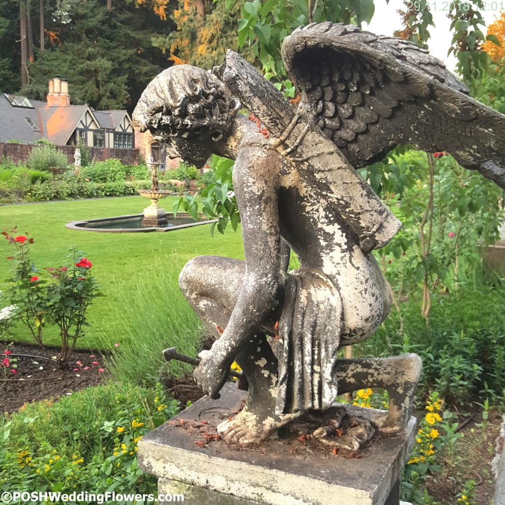 Angel Sculpture in the Thornewood Castle Secret Garden
