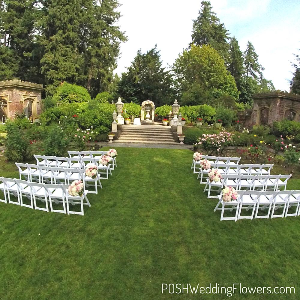 Thornewood Castle Wedding Aisle